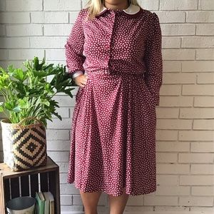 Vintage Sears | The Shirtdress Long Sleeve Bows